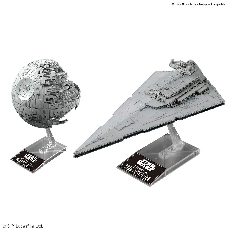 Bandai Star Wars Plastic Model Death Star II 1/2,700,000 & Star Destroyer 1/14,500 ''Star Wars'' by Bandai Hobby