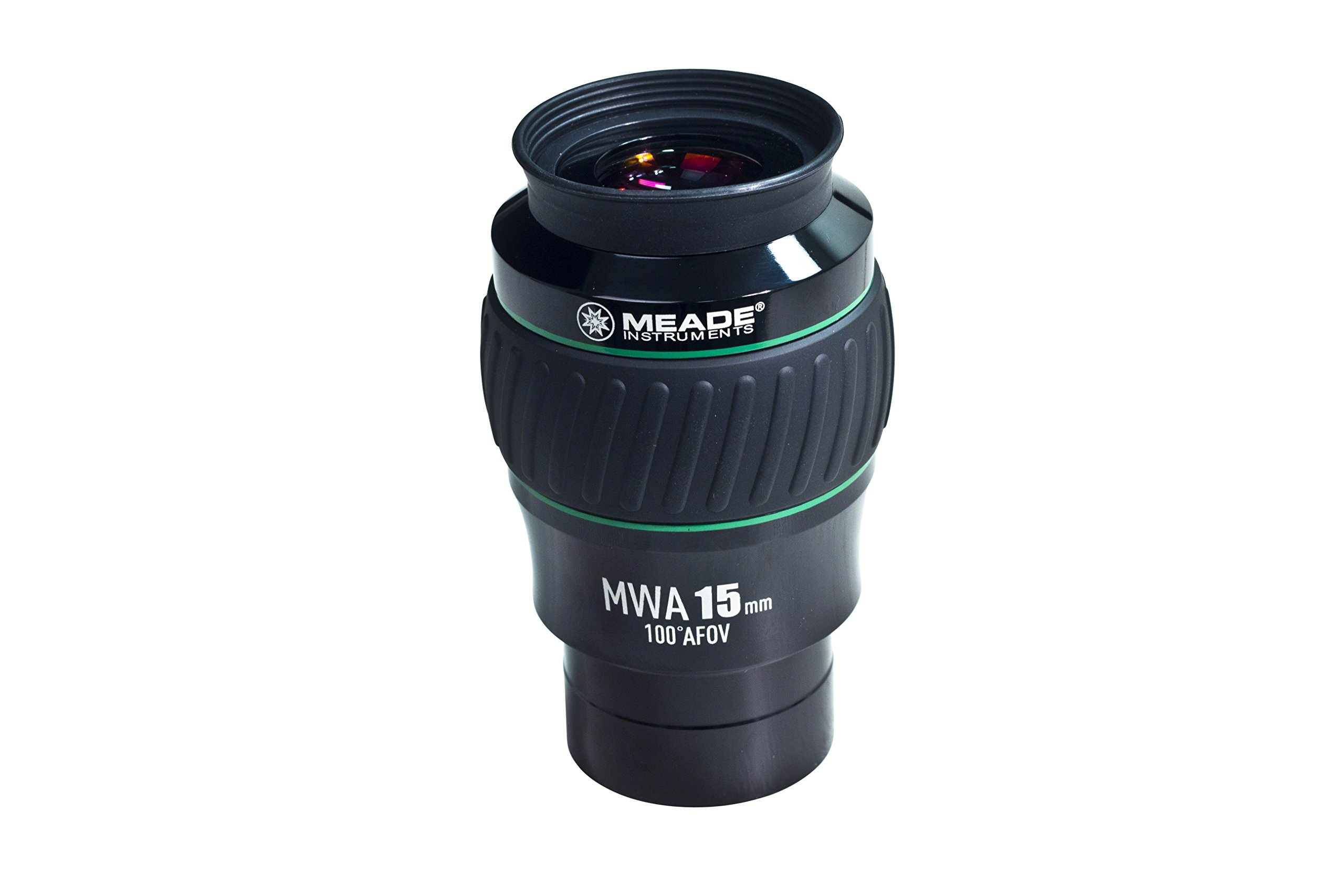 Meade Instruments 607017 Eyepiece, 100 Degree, MWA 15MM, 2-Inch (Black/Green) by Meade Instruments