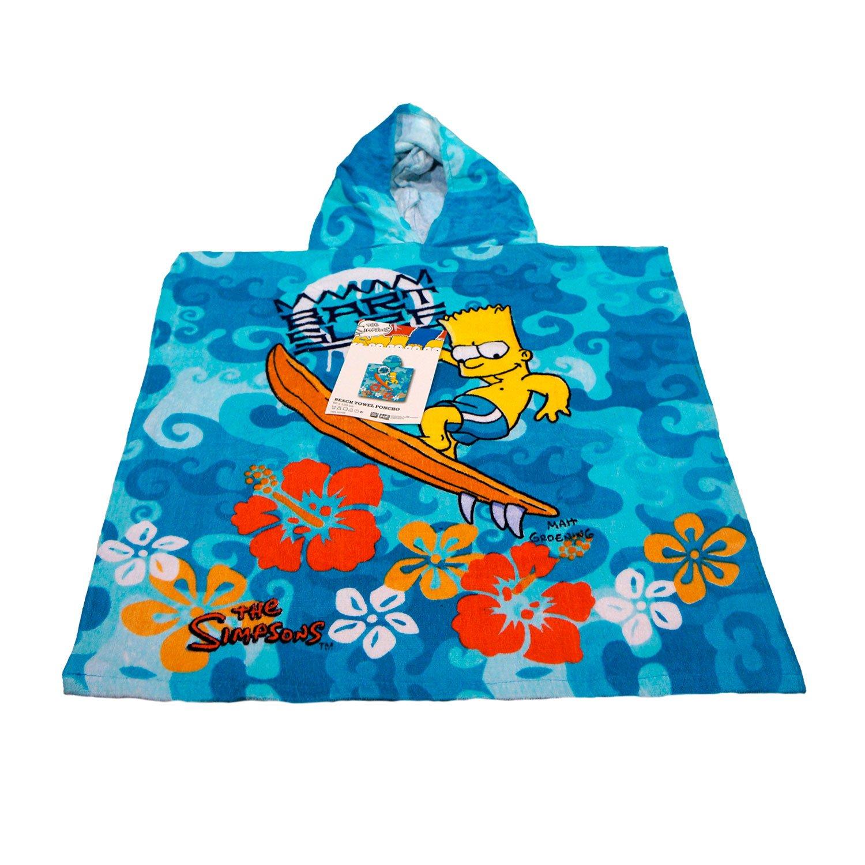Kid 's Boys regalo baño y playa piscina Poncho con capucha–The Simpsonshttps://amzn.to/2ExAuxi