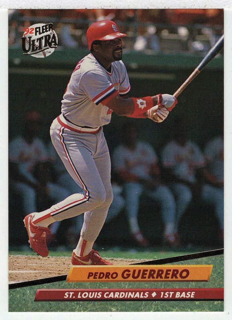 Amazoncom Pedro Guerrero Baseball Card 1992 Fleer Ultra 263 Nm