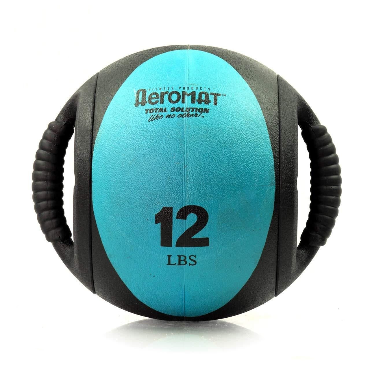 Aeromat Dual Grip Power Medicine Ball, 9cm/12-Pound, Black/Teal