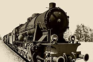 Steam Engine Train Black and White Vintage Retro Photo Photograph Cool Wall Decor Art Print Poster 36x24