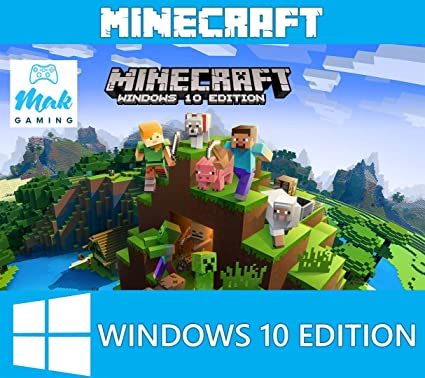 Amazon com: Minecraft Windows 10 Edition, PC, CD KEY, No Box