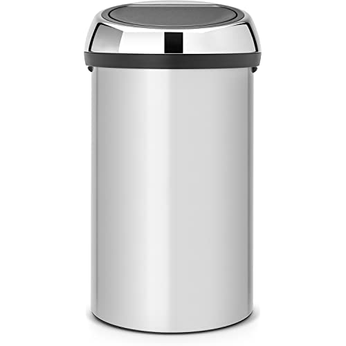 Brabantia 60 Litre Touch Bin - Metallic Grey
