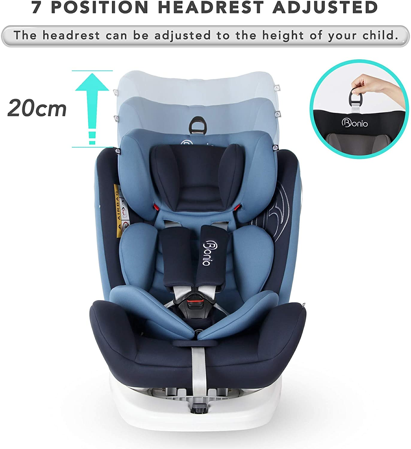 Child Baby Car Seat 360° ISOFIX Toddler Safety Booster Group 0//1//2//3 0-36kg UK