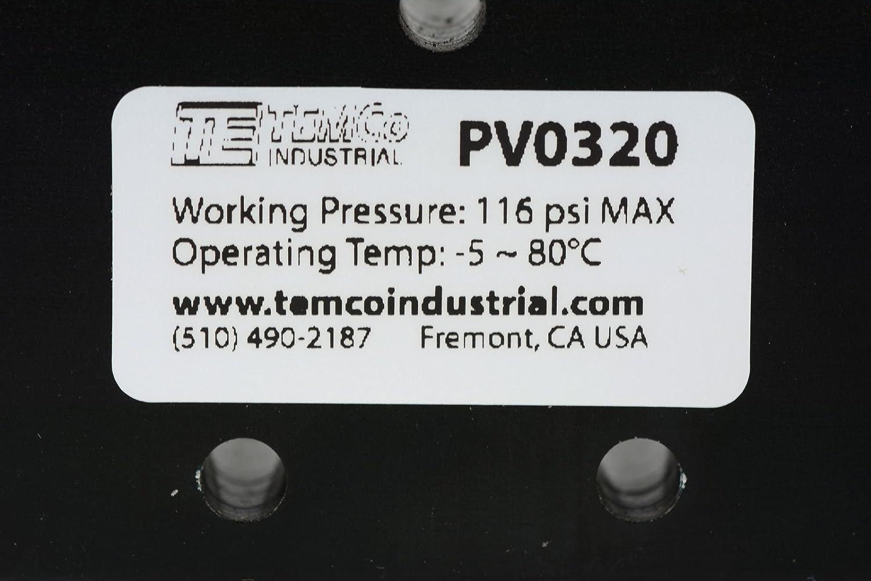 5X Spring Return Lever Pneumatic Control Valve 5 Port 4 Way 3 Position 1//4 NPT