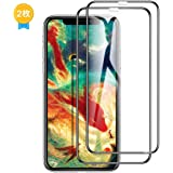 【Humixx】iPhone Xs ガラスフィルム iPhone X ガラスフィルム iPhone xs 液晶保護フィルム [2枚入り] [高鮮明 9H硬度] [全面保護シート] [0.3mm薄さ 気泡防止] [3D Touch対応][GX Series]