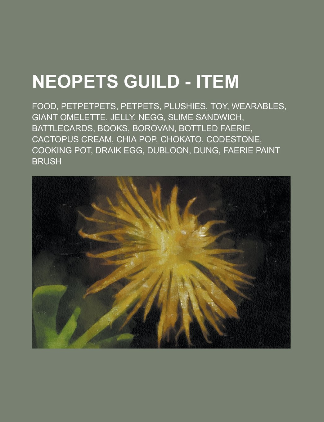 Neopets Guild - Item: Food, Petpetpets, - Livros na Amazon