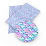 Mermaid Synthetic Leather Fabric Fish Scales