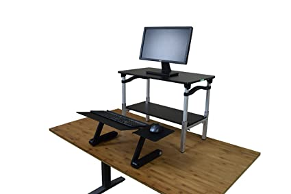 Pleasing Lift Standing Desk Converter Tall Adjustable Height Portable Affordable Sit To Stand Up Desktop Riser Conversion Stand With Negative Tilt Keyboard Home Remodeling Inspirations Propsscottssportslandcom