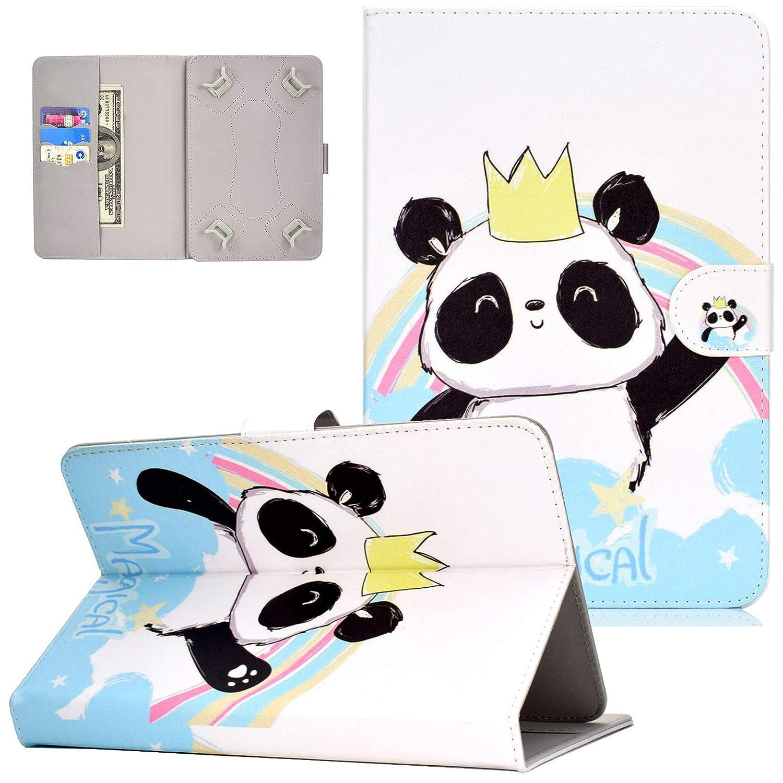 UUcovers ユニバーサルフォリオケース 9.5~10.5インチタブレット用 ウルトラスリム PUレザー カードスロットとスタイラスペンホルダー付き 9.5~10.5インチタブレット用  04 Crown Panda B07LF7PB9L