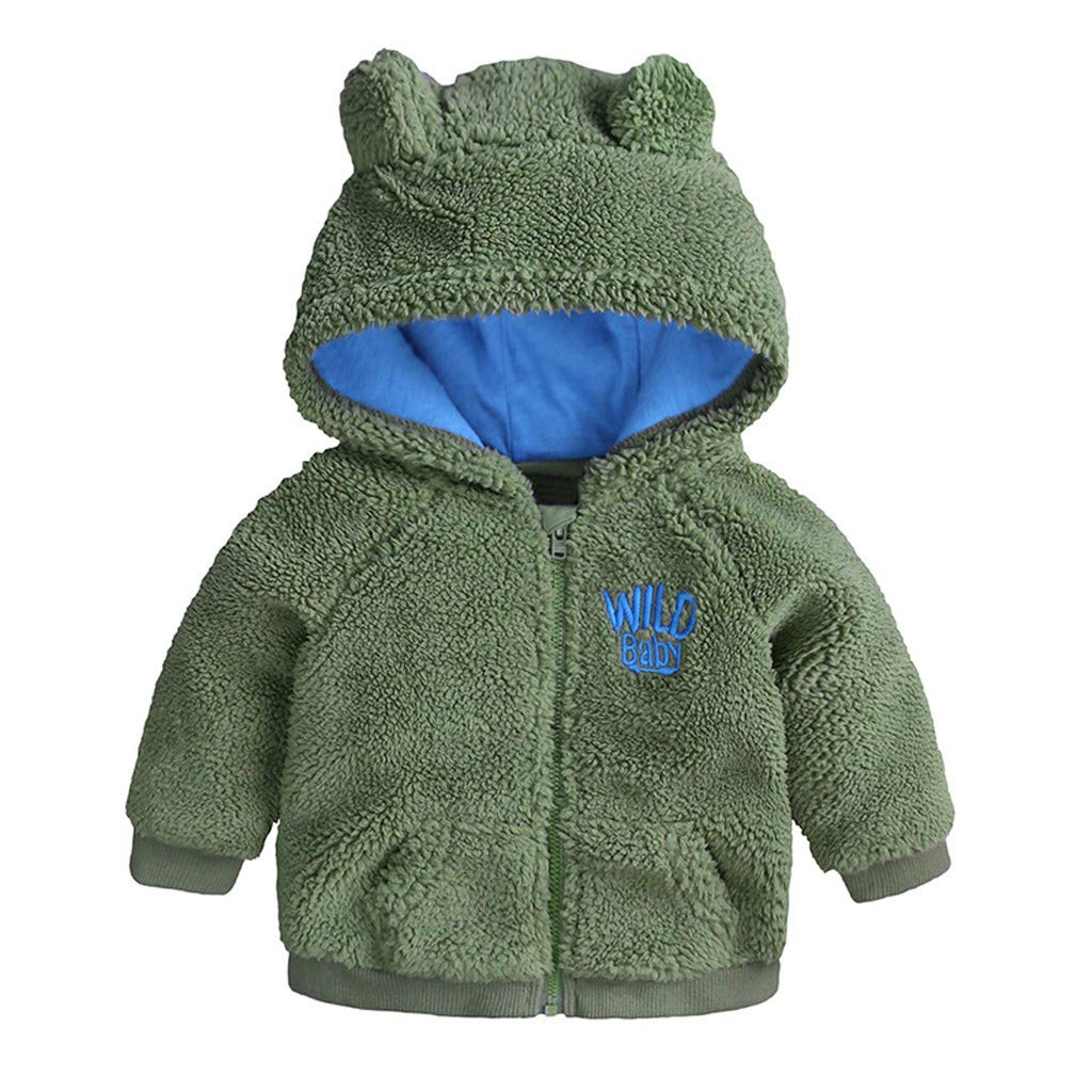 0-24 Months Baby Full Zip Hooded Sweatshirt Boys Girls Winter Snowsuit Baby Bear Romper Outfit Outerwear Coat Jumpsuit Overalls