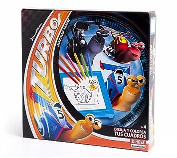 DreamWorks - Turbo, dibuja y colorea tus cuadros (Dinova D0557001): Dinova: Amazon.es: Juguetes y juegos
