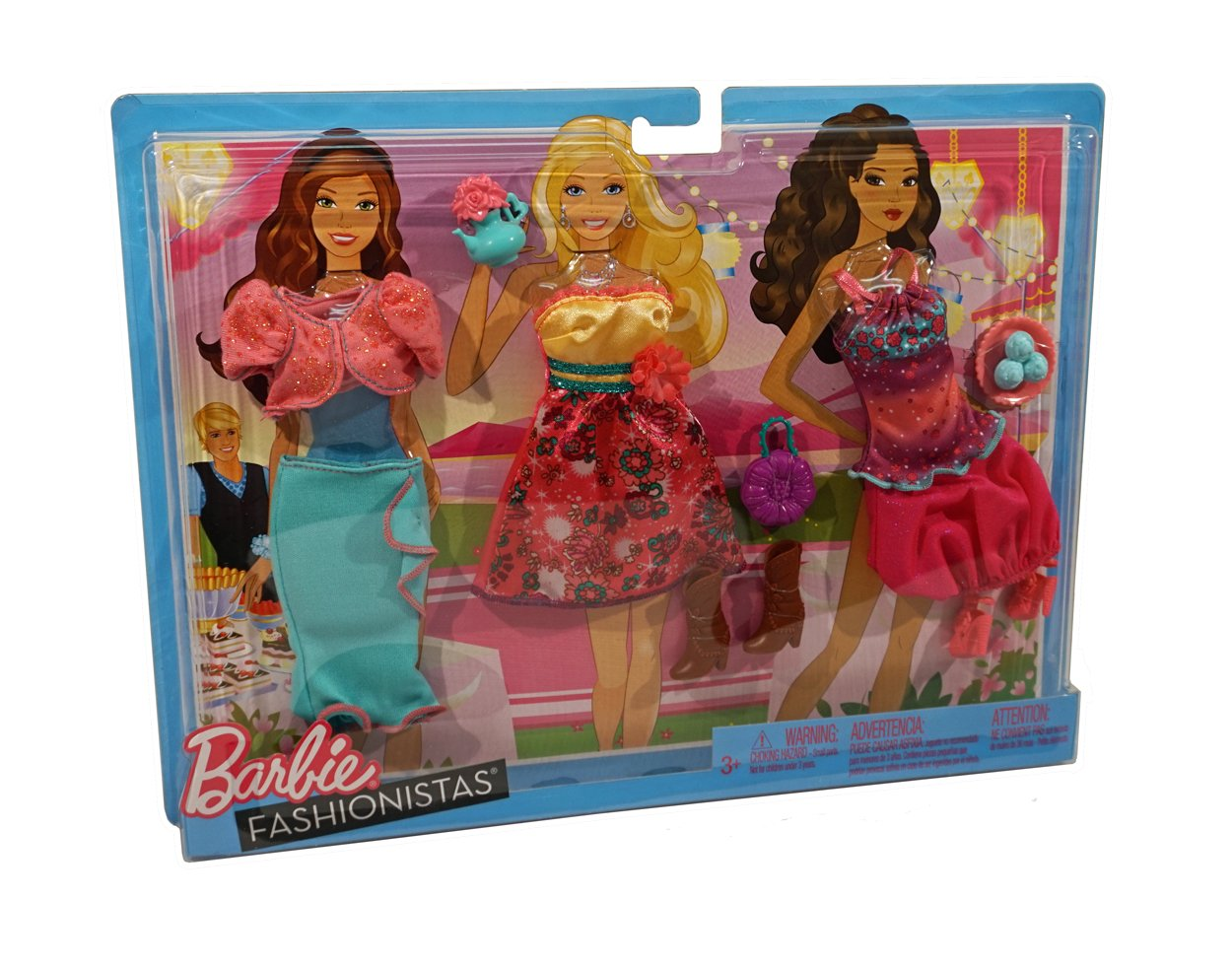 Barbie Fashionistas Day Looks Clothes - Tea Party Outfits