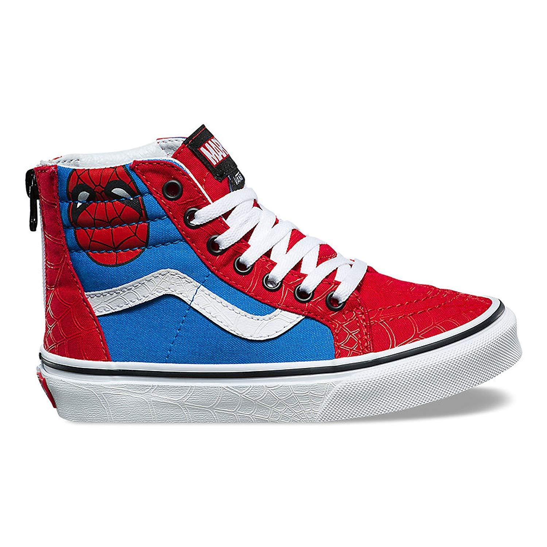 e316de91140f5 Amazon.com | Vans X Marvel Boy's Sk8 HI Zip Spiderman Skate Shoe (6 ...