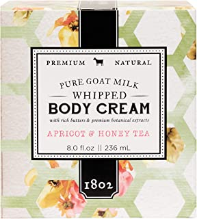 product image for Beekman 1802 - Whipped Body Cream - Apricot Honey Tea - Goat Milk Body Butter, Daily Hydration for Dry Skin - Naturally Exfoliating Body Cream - Good for Sensitive Skin - Goat Milk Bodycare - 8 oz