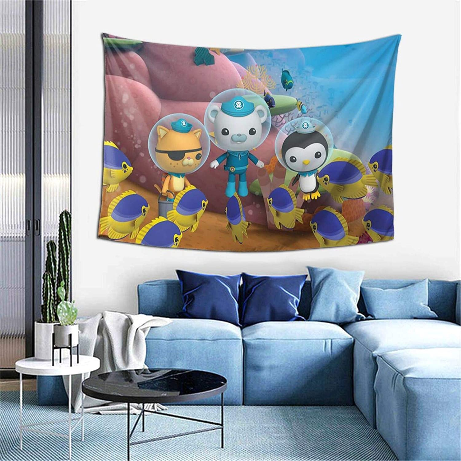 CherishU The Oc-to-Nauts Tapestry Funny Aesthetic Hippie Wall Hanging Bedding for Living Room Bedroom Deor Home Art Decor 60 X 40in