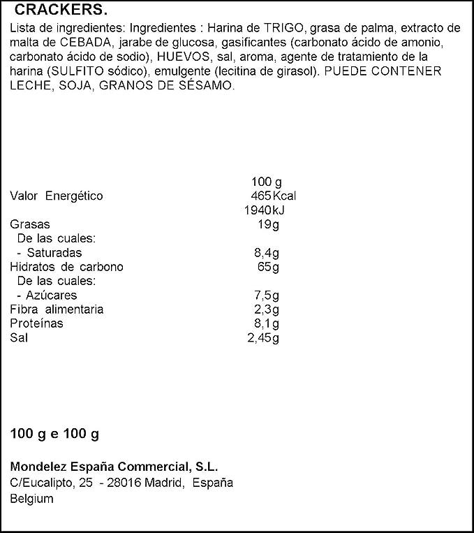 Lu | Tuc | Galletas dulces del chile | 100gr / 3.53oz: Amazon.es: Alimentación y bebidas