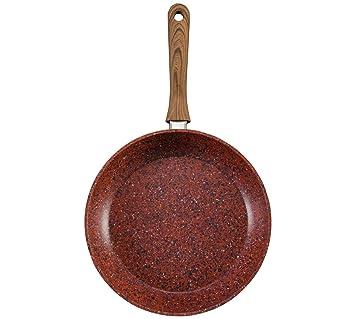 Copper Stone sartén/4,8 mm de piedra gruesa sartén/Ø 20 cm/perfecta tecnología antiadherente/Super desgaste resistente/disipación de calor dinámico: ...