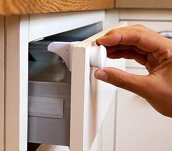 Cabinet Safety Locks   Child Safety  4 Locks 1 Key  Baby Magnetic Locks For