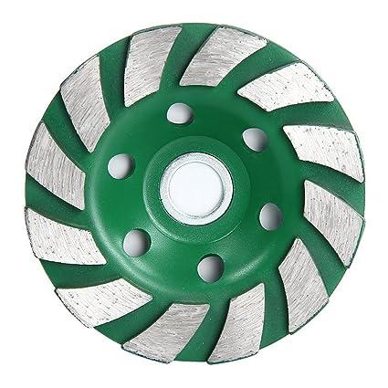 SODIAL(R) 12 Segs 4 inch Concrete Turb Diamond Grinding Cup Wheel Disc Masonry