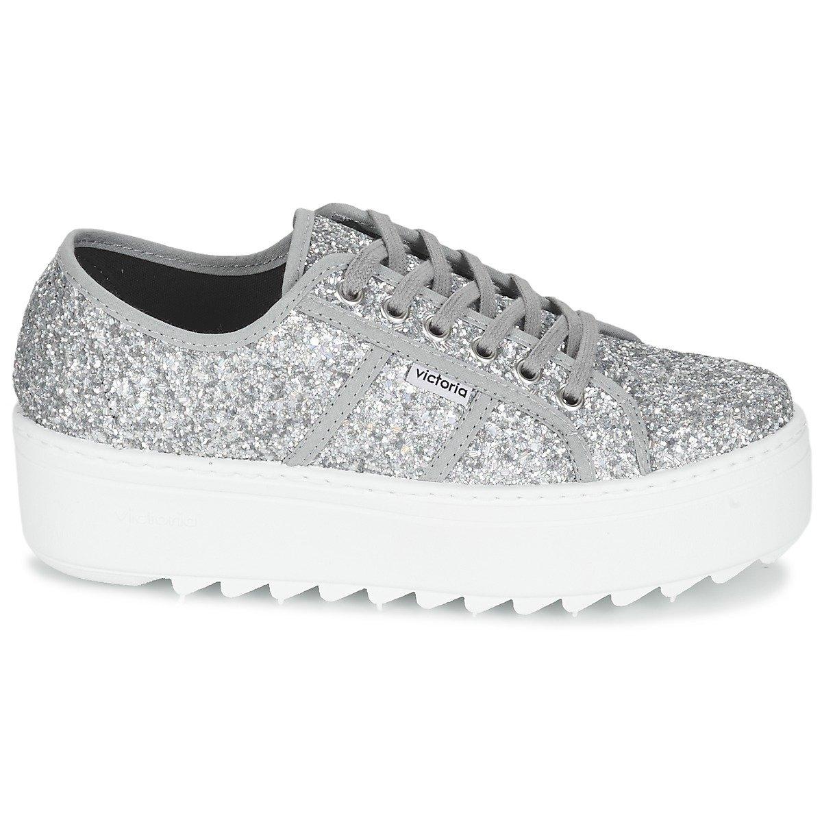 Zapatillas Victoria 09305 - Plataforma Glitter: Amazon.es: Zapatos y complementos