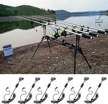 Edward Jackson Pesca Swingers Swinger Carp Fishing Indicatore LED for Esterni Illuminato Allarme Gancio Swingers Esterna Carp Fishing Tackle Strumento di 4 Colori Allarme Pesca Attrezzature di Pesca
