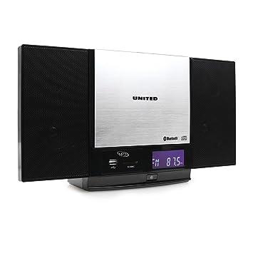 United VMC 1300 Hifi Bluetooth Stereoanlage Keine Kompaktanlage Küchenradio  (USB SD Slot,