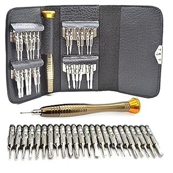 MMOBIEL Kit de Herramientas Profesionales 25 en 1 Que Incluye: Destornilladores Tipo Pentalobe, Torx, Phillips, para Reparar teléfonos Inteligentes ...