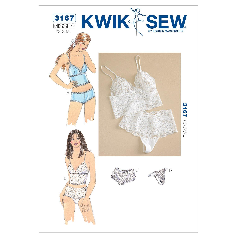 Kwik Sew 3167 - Patrones de costura para confeccionar ropa interior ...