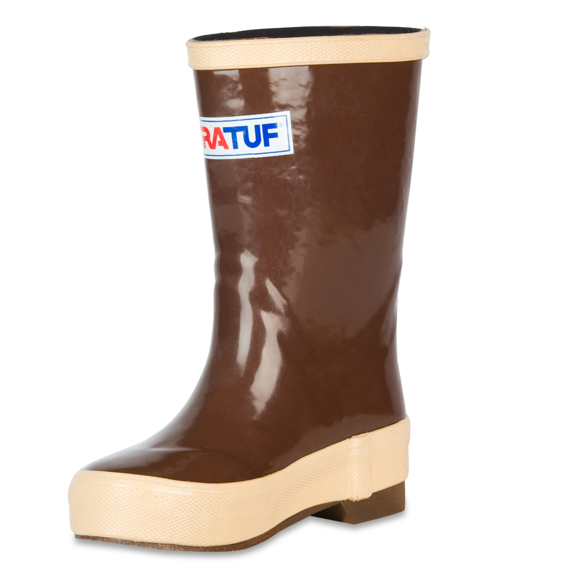 """XTRATUF Legacy Kids Series 8"""" Neoprene Kids' Boots, Copper & Tan (22681G)"""