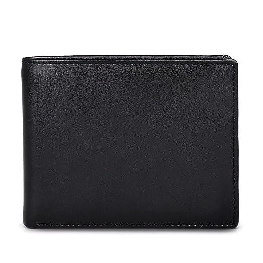 rfid blocking wallet secure bifold card holder protector leather purse - Bifold Card Holder