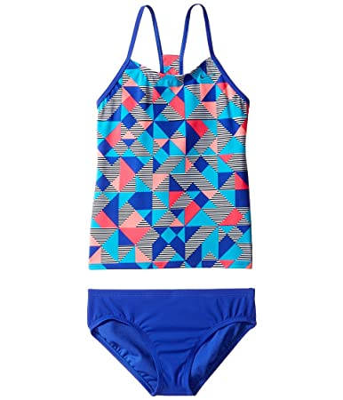 4a7e56f536cb9 Amazon.com: Nike Girl's Optic Pop Racerback Tankini 2-Piece Swimsuit ...