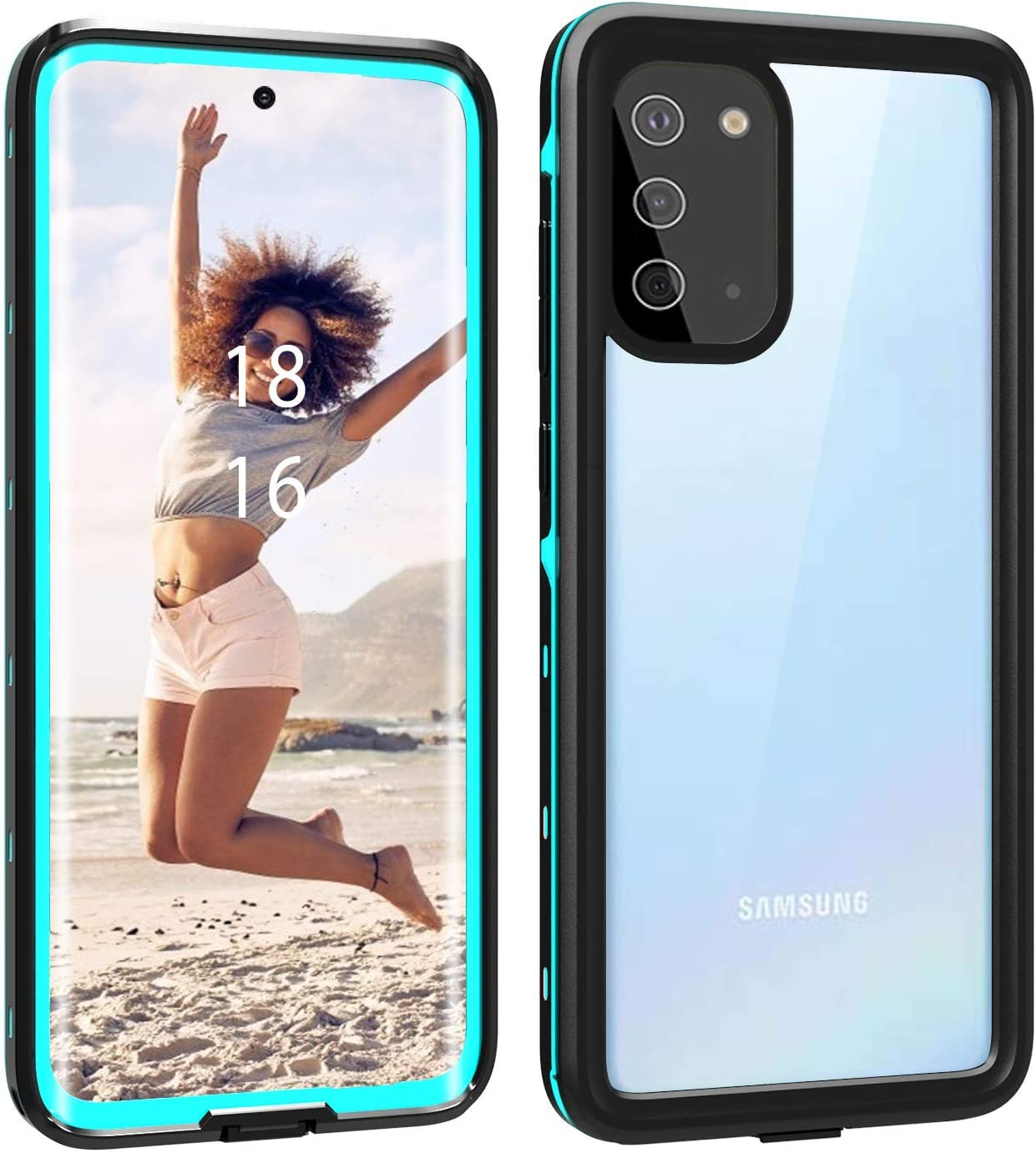 S20 5G 6.2 Samsung Galaxy S20 Waterproof Case With Built-in Screen Protector black IP68 Certified Waterproof Shockproof Dustproof Scrach Resistant Cases Full-Body Rugged Holster for Galaxy S20