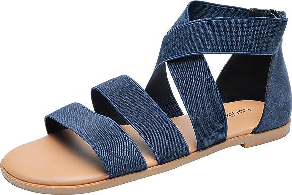 Luoika Women's Wide Width Flat Sandals