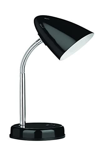 Premier Housewares Luma Flex Black Flexi Desk Lamp
