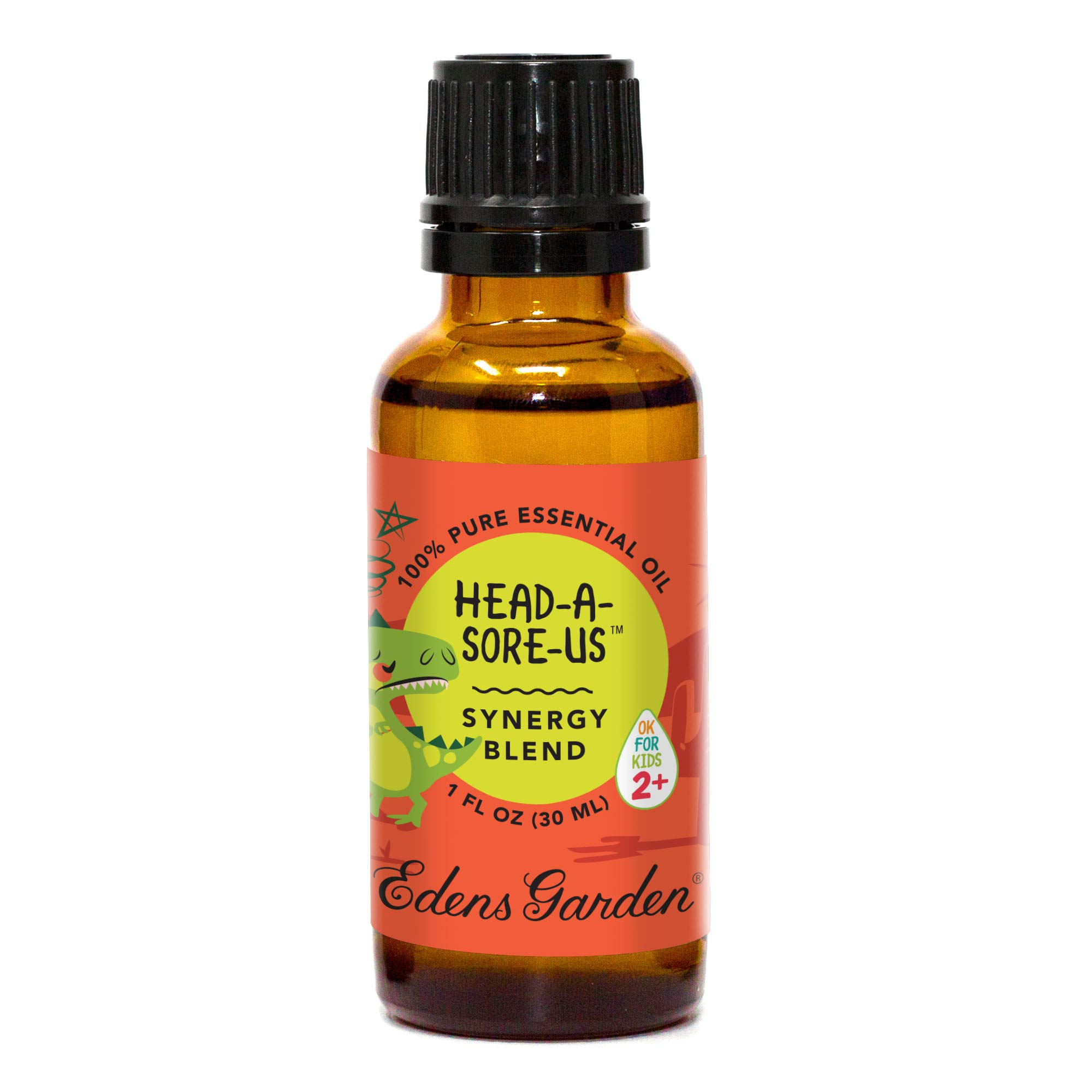 Edens Garden Head-A-Sore-Us Ok for Kids Synergy Blend Essential Oil, Frankincense, Lavender and Roman Chamomile, 30 mL