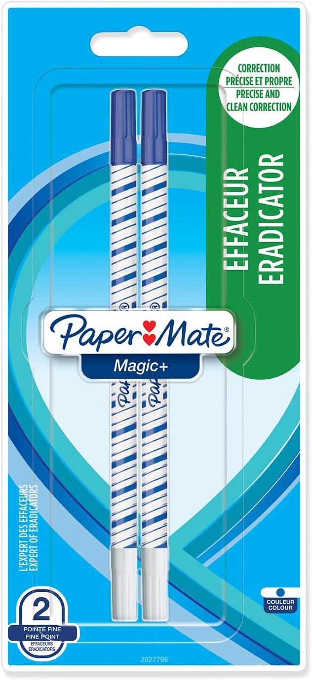 Effaceur Pointe Fine Bleu Lot de 2 Paper Mate Super Magic
