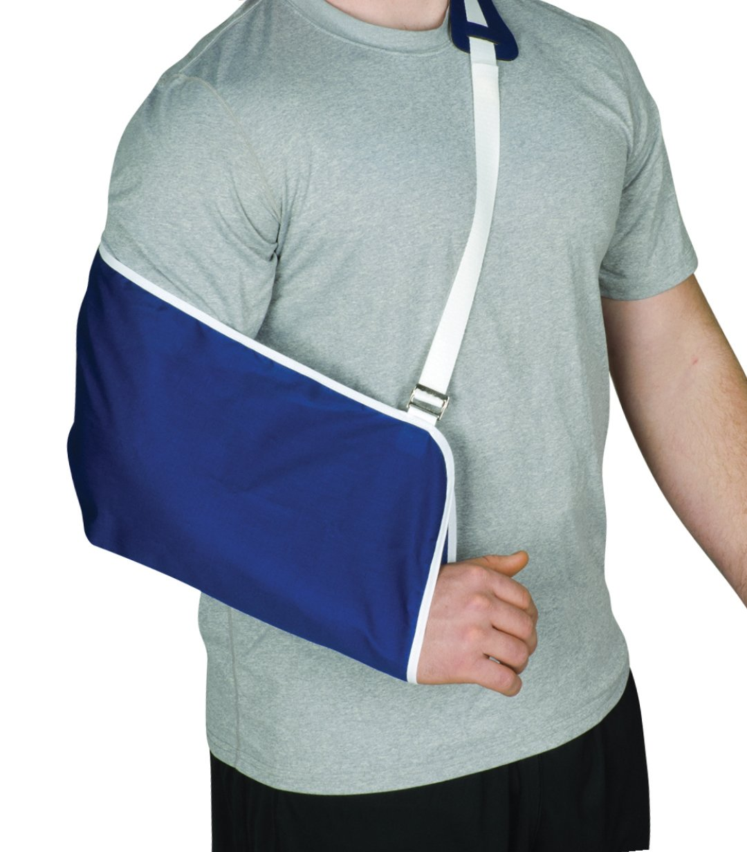 Blue Jay Universal Arm Sling – Blue/White, 18'' x 9'' Pouch Arm Sling for Shoulder Comfort Pad, Comfort Pad, Neoprene Shoulder Pad, Durable Cotton Arm Sling Immobilizer
