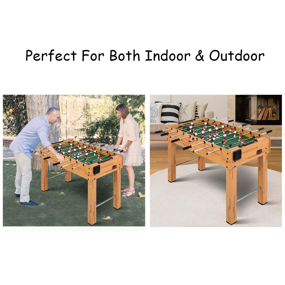 GOPLUS Foosball Table Soccer Game Table Competition Sized Football Arcade  for Indoor Game Room Sport