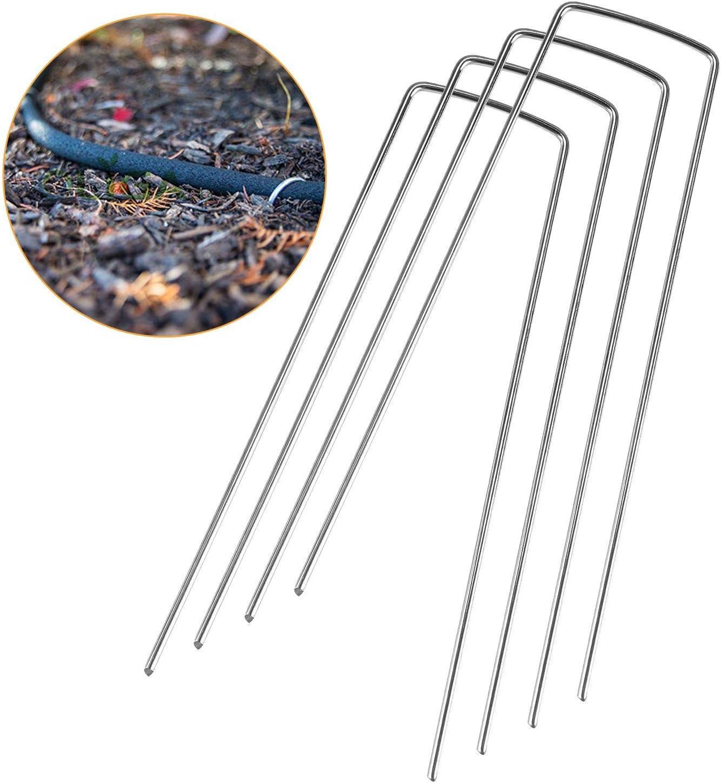 Tissus de Paysage 15 cm de Longueur Acier Galvanis/é,pour la Fixation des Tissus Anti Mauvaises Herbes Imperm/éables ASelected Lot de 200 Piquets de Fixation pour Jardin en Forme de U 2,5 mm