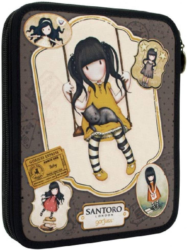 Santoro, Ruby Yellow - Estuche Plumier Doble Gorjuss: Amazon.es: Oficina y papelería