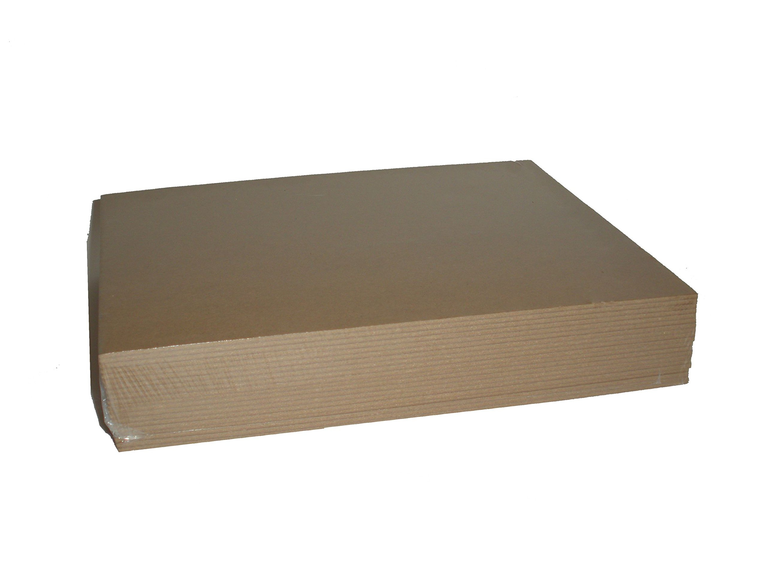 Brown Chipboard 100 Point Extra Thick 8.5 x 11 Inches, .100 Caliper Heavy Cardboard 2.54 mm Thick