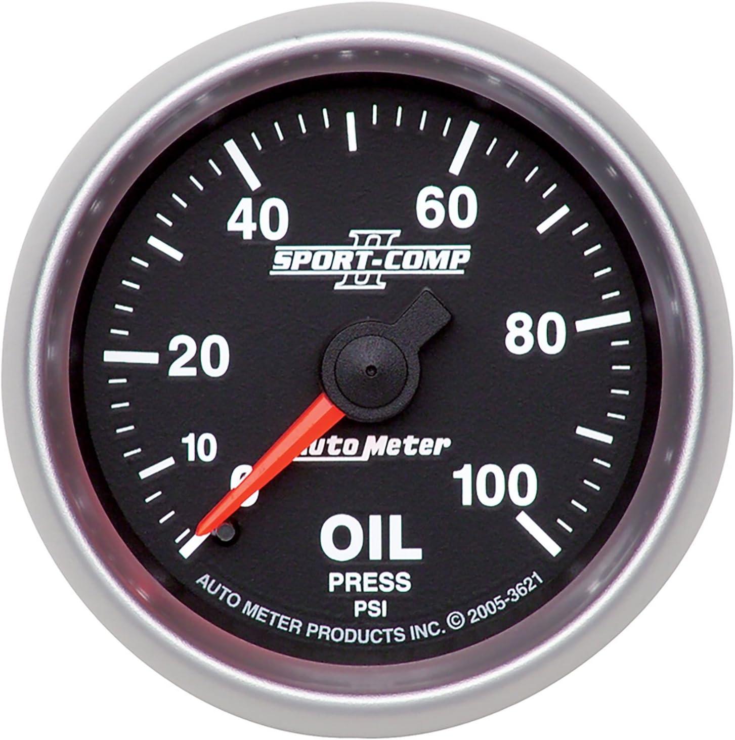 "SALE Auto Meter Ford Racing 2 1//16/"" Electric Oil Pressure Gauge 0-100 Psi"