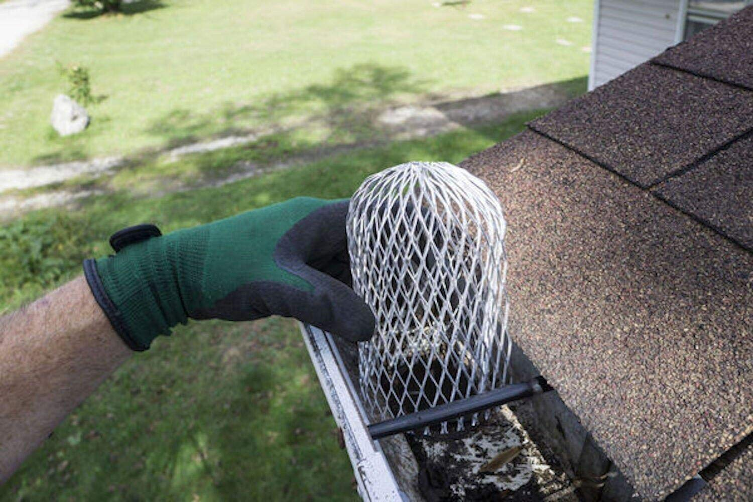 Incly 6 Pack Gutter Guard Strainer 3 Inch Downspouts Filter Keeps Unclogging