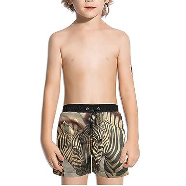 Amazon.com: ouxioaz Boys nadar tronco cebra pintura playa ...