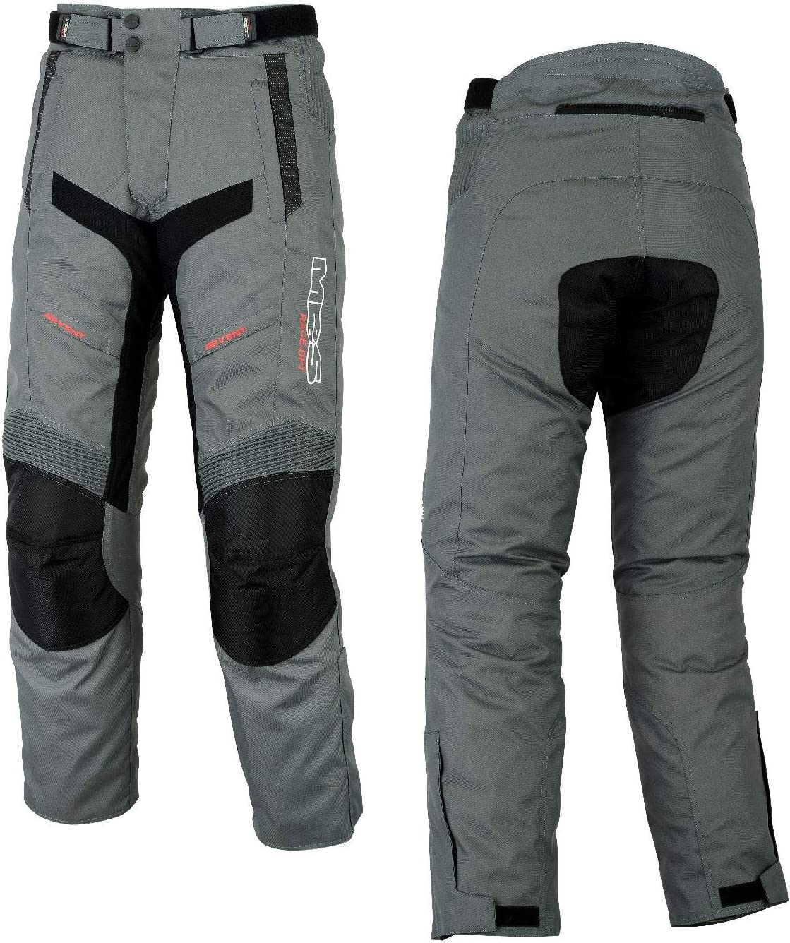 MBSmoto MP-51 Roader Motorcycle Motorbike Scooter Cruiser Touring Waterproof Windproof Textile Cordura Trouser M, Anthracite