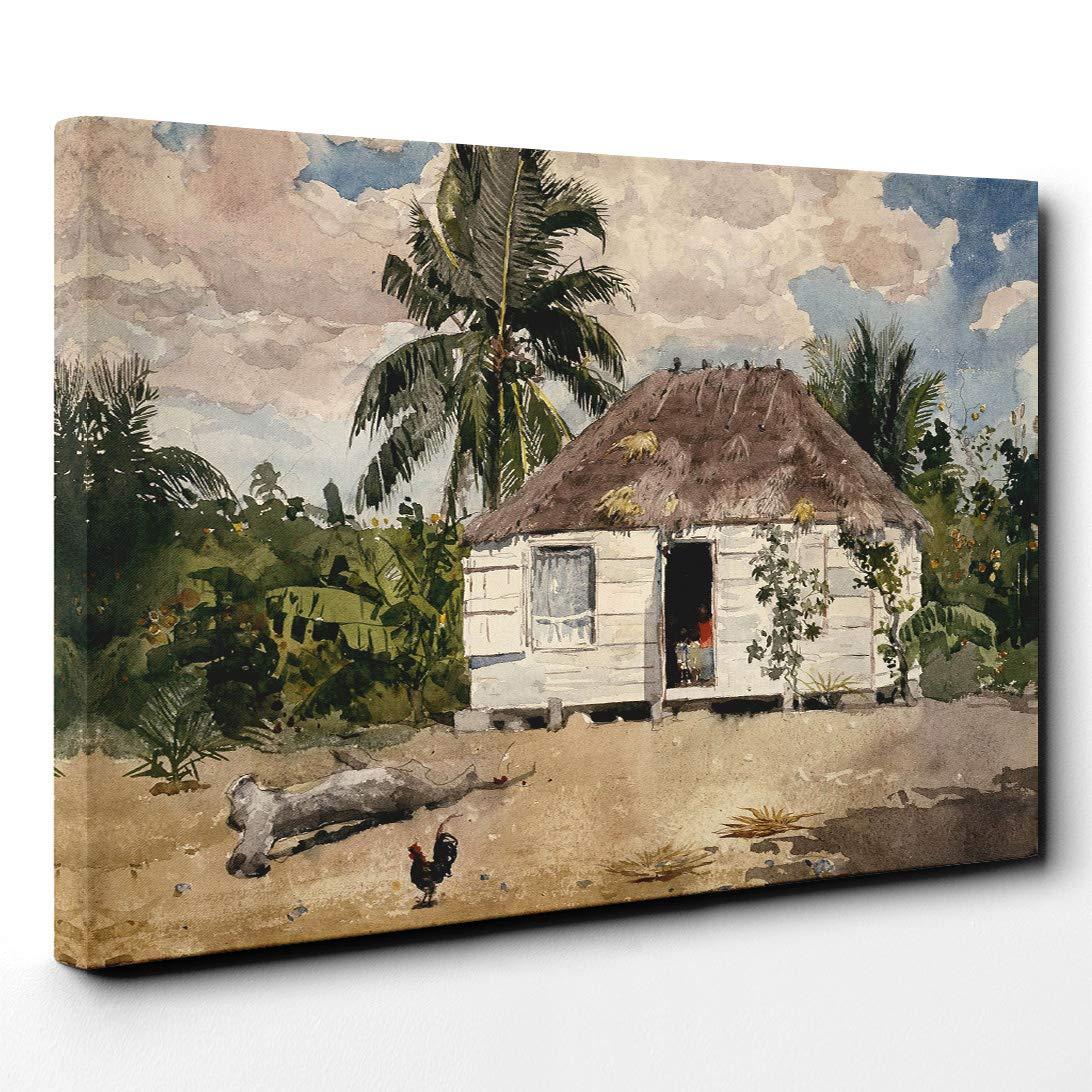 Big Box Art Caja Grande Lienzo de Arte casetas de Winslow Homer Native, Nassau,, 24 x 16-Inch: Amazon.es: Hogar