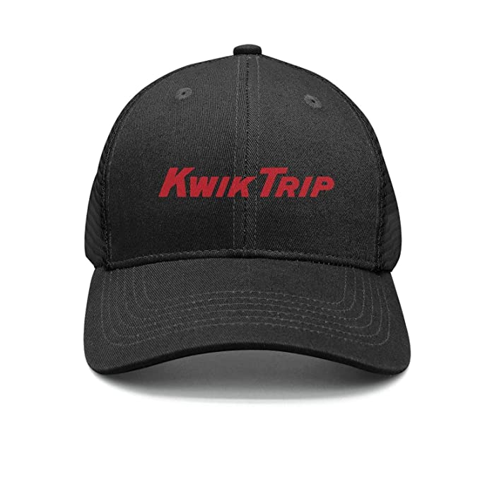 HF12GHFHI Black Caps Outdoor Kwik-Trip-Logo- All Cotton
