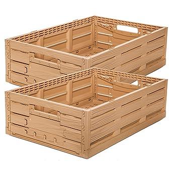 2 Stk fruta caja – Almacenamiento caja madera diseño manzana caja ...